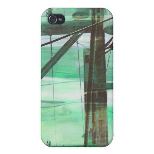 Green Binary Fog iPhone 4/4S Covers