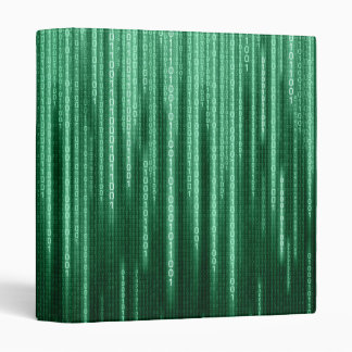 Green Binary Rain Binder