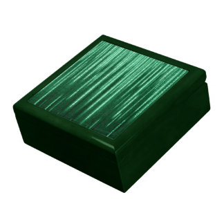 Green Binary Rain Trinket Box
