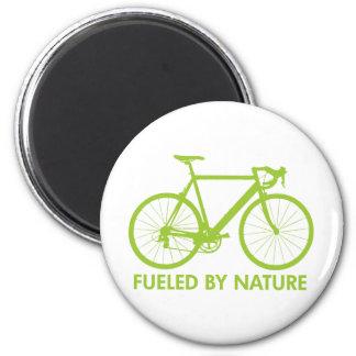 Green Biofuel Bike 2 Inch Round Magnet