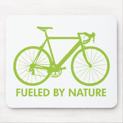Green Biofuel Bike Mouse Pad