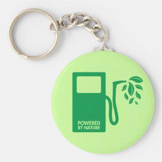 Green Biofuel Ethanol Basic Round Button Keychain