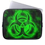Green Biohazard Laptop Computer Sleeves