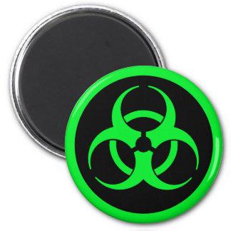 Green Biohazard Symbol Magnet