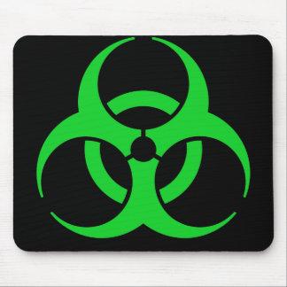 Green Biohazard Symbol Mouse Pad