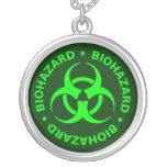 Green Biohazard Symbol Necklace