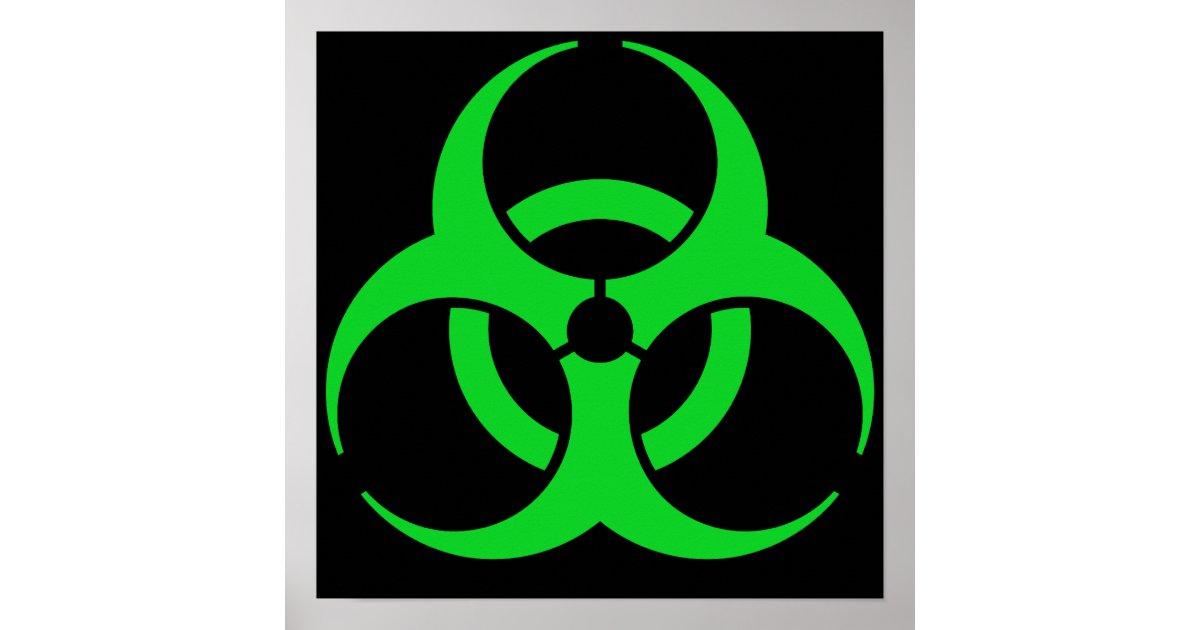 Green Biohazard Symbol Poster | Zazzle.com