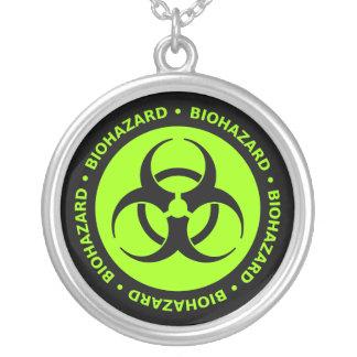 Green Biohazard Warning Necklace