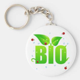 Green biologic organic natural keychain