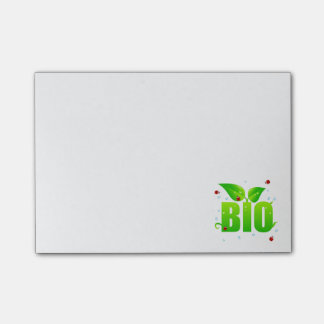 Green biologic organic natural post-it notes