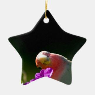 green bird ceramic ornament