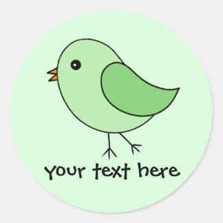 Green Bird Classic Round Sticker