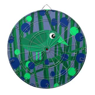 Green bird dart board