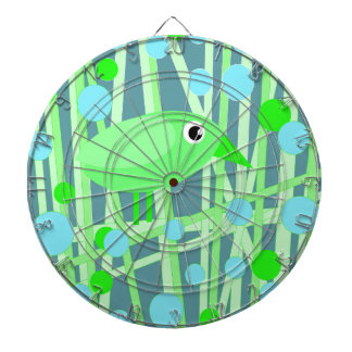 Green bird dartboard