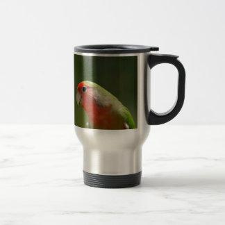 green bird fun coffee mugs