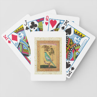 Green Bird, Mughal (gouache on paper) Bicycle Playing Cards