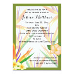 Green Bird of Paradise Bridal Shower Wedding 4.5x6.25 Paper Invitation Card