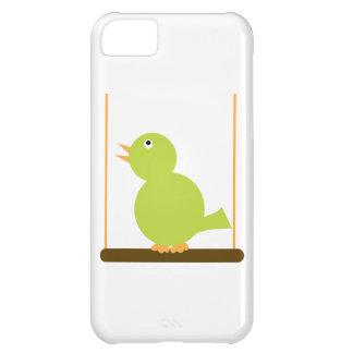 Green Bird on a Perch Case
