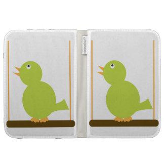 Green Bird on a Perch Caseable Case Kindle Folio Case
