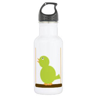 Green Bird on a Perch Liberty Bottle 18oz Water Bottle