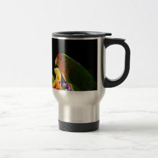 green bird travel mug