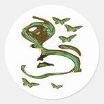 Green Birdwing Modern Art Sticker