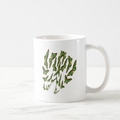 Green Birdwings Swarms Merging Coffee Mug