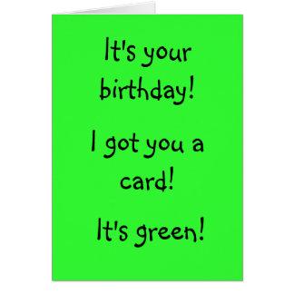 Green Birthday Card