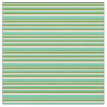 [ Thumbnail: Green, Bisque & Aquamarine Colored Lines Fabric ]