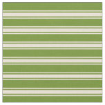 [ Thumbnail: Green & Bisque Colored Lines Pattern Fabric ]