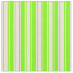 [ Thumbnail: Green & Bisque Colored Lines/Stripes Pattern Fabric ]