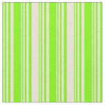 [ Thumbnail: Green & Bisque Colored Stripes Fabric ]