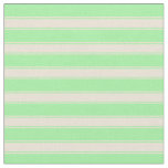 [ Thumbnail: Green & Bisque Lined/Striped Pattern Fabric ]