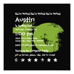 10 Year Old Birthday Invitations Announcements Zazzle