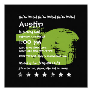 boys 10th birthday invitations zazzle
