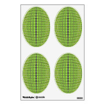 green black abstract pattern wall decal