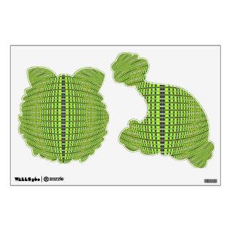 green black abstract pattern wall sticker