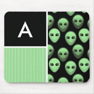 Green Black Alien Mousepad