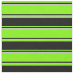 [ Thumbnail: Green, Black, and Grey Colored Stripes Fabric ]