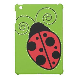 Green, Black and Red Ladybug iPad Mini Case