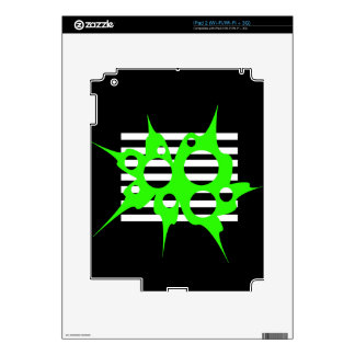 Green, black and white abstraction decal for the iPad 2