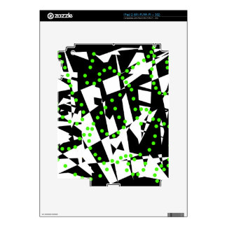 Green, black and white chaos iPad 2 decals