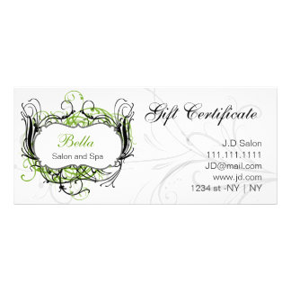 green,black and white Chic Gift Certificates