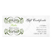 green ,black and white Chic Gift Certificates