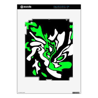Green, black and white decor iPad 2 decals