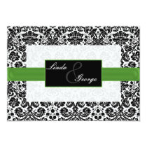 green,black and white rsvp cards