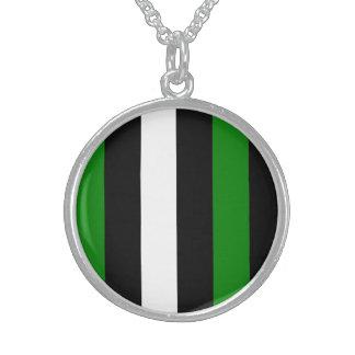 Green Black And White Stripes Pendants