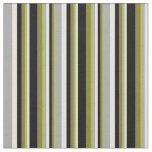 [ Thumbnail: Green, Black, Beige, and Dark Gray Colored Lines Fabric ]