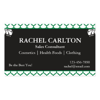 Green & Black Business Cards