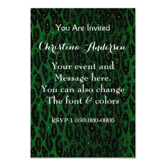 Green Black Cheetah Stars Card